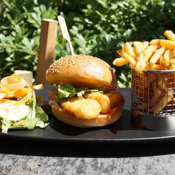 fish burger spicy classy